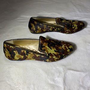 Birdies Camo Calf Hair Loafers Size 9.5